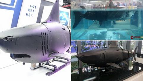 Çin'in geliştirdiği 'köpekbalığı robot'un yeni fotoğrafları paylaşıldı