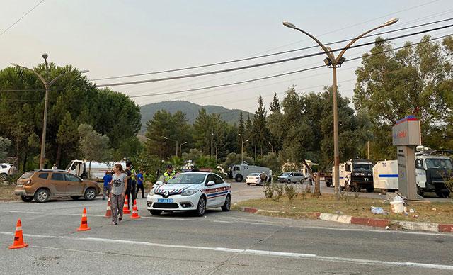 DHA: Milas'ta termik santral bölgesindeki alevler etkisini kaybetti