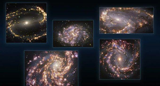 Farklı galaksilerdeki yıldız oluşumları görüntülendi