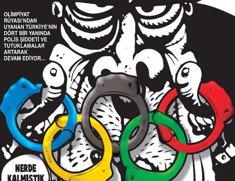 Olimpiyat ve polis şiddeti Gırgır'ın kapağında!