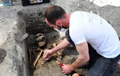Aydın'da 13'üncü yüzyıldan kalma insan iskeletleri bulundu