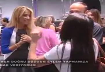 Burcu Esmersoy'a mağaza açılışında Gezi Parkı tepkisi!