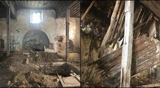 Sarıyer'deki tarihi kilise defineciler tarafından talan edildi