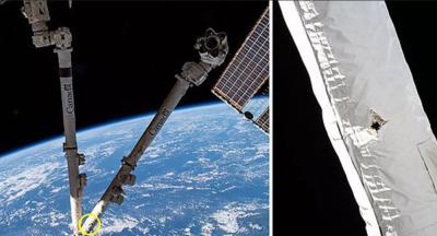 Uluslararası Uzay İstasyonu'na uzay çöpü çarptı