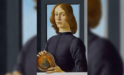 Young Man Holding a Roundel tablosu 92 milyon dolara satıldı